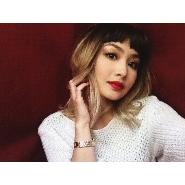 Bettie Bangs With Dark Brown And Blonde Ombre :* | Fashionrebel In Silver Bettie Blonde Hairstyles (View 6 of 25)