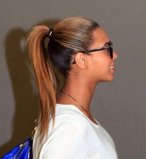 Beyonce Knowles High Ponytail Hairstyle – Hairstyles Weekly With Straight High Ponytail Hairstyles With A Twist (View 16 of 25)