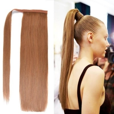Bhf Clip In Ponytail: Real Human Hair Clip On Ponytail Extensions (View 16 of 25)