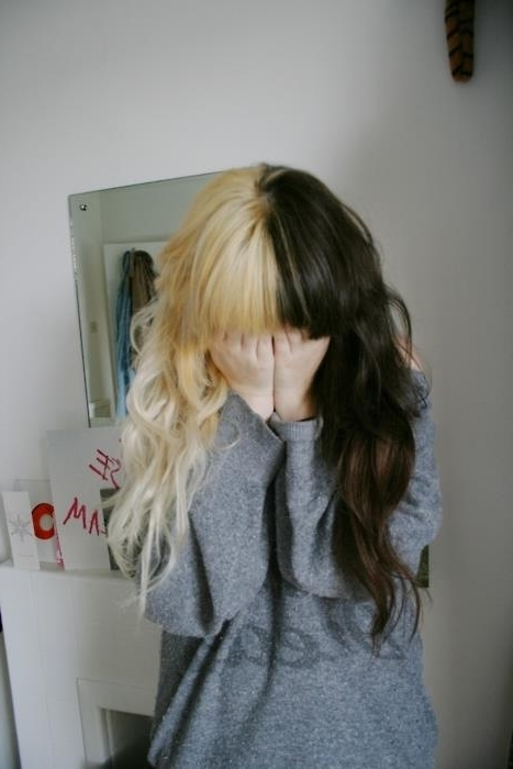 Bicolor Hair | Via Facebook On We Heart It Throughout Bi Color Blonde With Bangs (View 14 of 25)