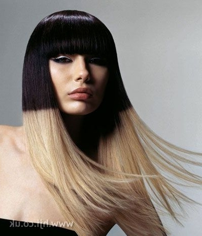 Bicolor | Peinaos Y Cortes Extravagantes | Pinterest | Womens Inside Bi Color Blonde With Bangs (View 18 of 25)