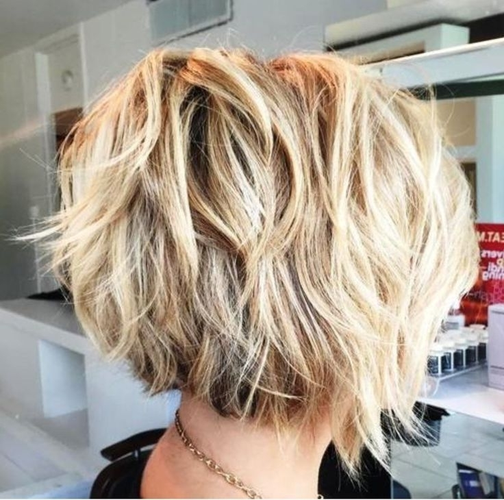 Billedresultat For Feathered Tousled Blonde Bob Back View | Hair In Pertaining To Short Blonde Bob Hairstyles With Layers (View 10 of 25)