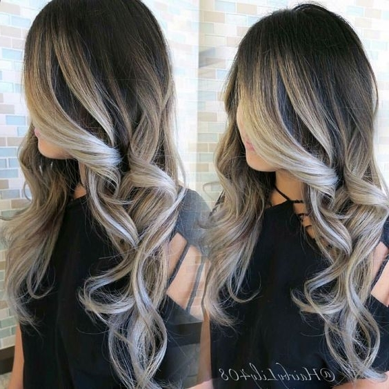 Black And Blonde Highlights – Google Search | Hair | Pinterest Pertaining To Grayscale Ombre Blonde Hairstyles (View 21 of 25)