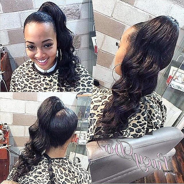 Black Curly Ponytail Hairstyles Elegant High Curly Ponytail Throughout High Curly Black Ponytail Hairstyles (View 4 of 25)