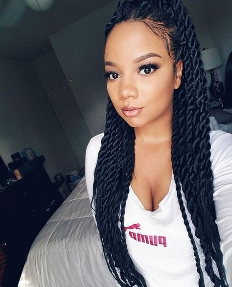 Black Hairstyles Medium Length Hair Inspirational Image Result For Pertaining To Black Layered Senegalese Twists Pony Hairstyles (View 18 of 25)