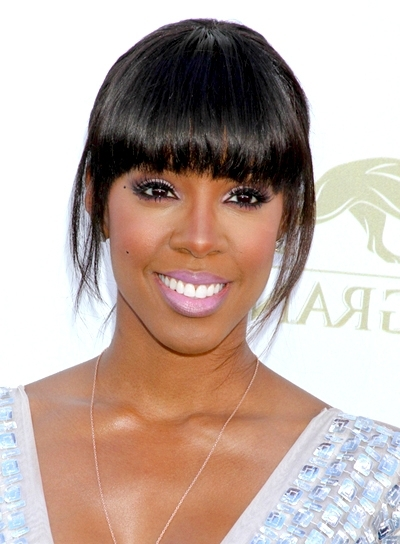 Black Hairstyles With Bangs – Beauty Riot For Weaved Polished Pony Hairstyles With Blunt Bangs (View 14 of 25)