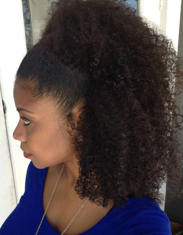 Black Ponytail Hairstyles, Best Ponytail Hairstyles For Black Hair Regarding High Curly Black Ponytail Hairstyles (View 24 of 25)