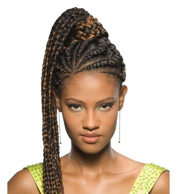 Black Ponytail Hairstyles, Best Ponytail Hairstyles For Black Hair With Brunette Ponytail Hairstyles With Braided Bangs (View 17 of 25)