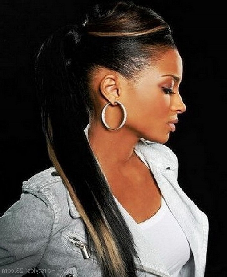 Black Ponytail Hairstyles Regarding Afro Style Ponytail Hairstyles (View 22 of 25)
