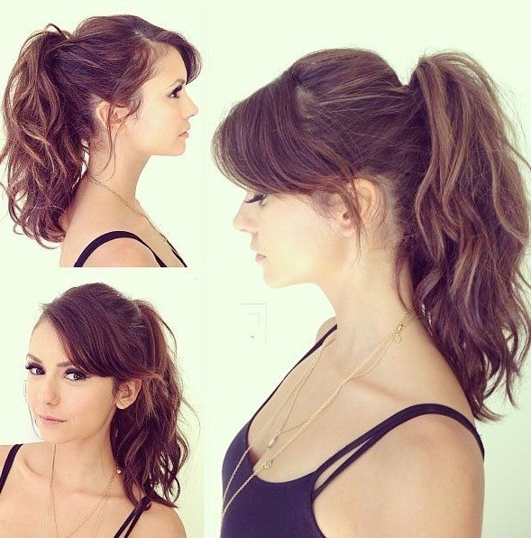 Black Women Hairstyle Pictures | Bangs Hairstyles Curly | Pinterest Inside High Ponytail Hairstyles With Side Bangs (View 21 of 25)