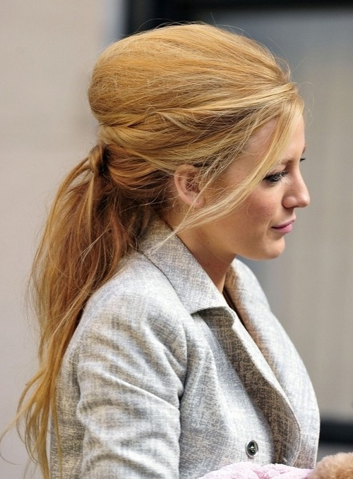 Blake Lively's Best Hairstyles – Hair World Magazine In Lively And Lovely Low Ponytail Hairstyles (View 14 of 25)