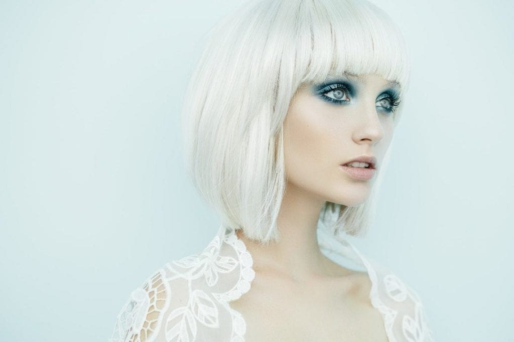 Bleached Hair: 25 Bleach Blonde Hairstyles We Can't Get Enough Of Regarding Platinum Tresses Blonde Hairstyles With Shaggy Cut (View 18 of 25)