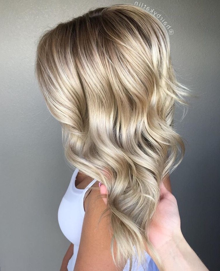 Blended Grown Out Highlights To A Rooty Balayage Blonde #ashblonde With Regard To Grown Out Balayage Blonde Hairstyles (View 16 of 25)