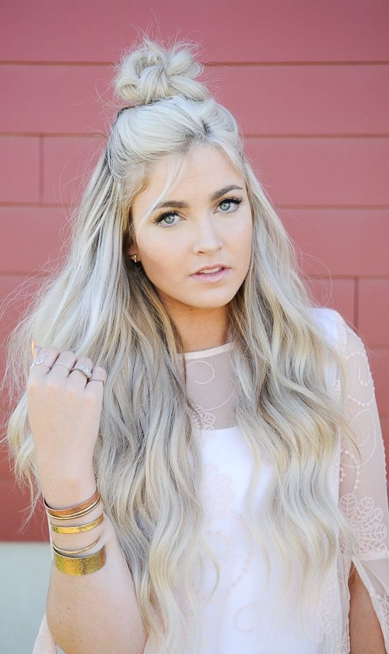 """Blond Hair Color Ideas : Cara Loren Ash Blonde """" We Also Do A Toner For Ash Blonde Half Up Hairstyles (View 14 of 25)"""