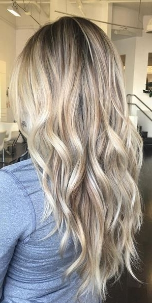 Blonde Balayage Hair Colors With Highlights |Balayage Blonde Throughout Buttery Highlights Blonde Hairstyles (View 8 of 25)