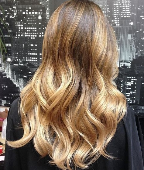 Blonde Balayage Hair Colors With Highlights  Balayage Blonde With Regard To Golden Blonde Balayage Hairstyles (View 17 of 25)