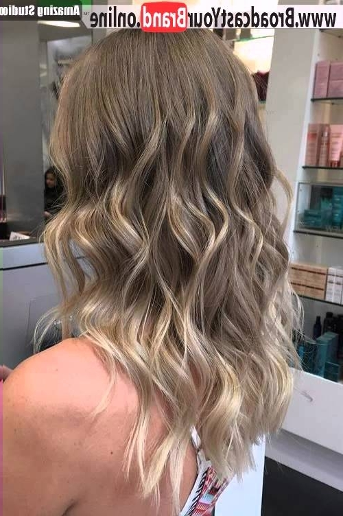 Blonde Balayage Highlights For Medium Hair – Youtube Intended For Medium Blonde Balayage Hairstyles (View 24 of 25)