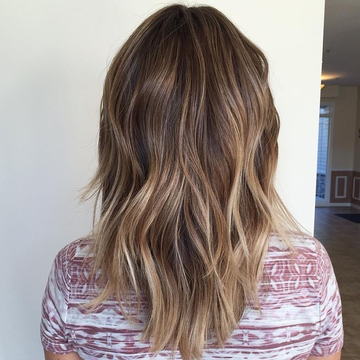 Blonde Balayage Ombré And Long Layered Haircut Styled With Best Of Inside Balayage Blonde Hairstyles With Layered Ends (View 21 of 25)
