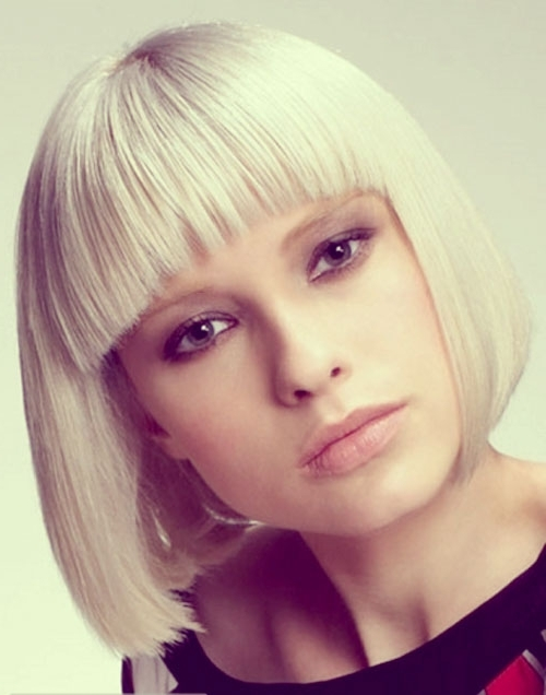 Blonde Bob Hairstyles With A Fringe – Hair World Magazine For Cute Blonde Bob With Short Bangs (View 15 of 25)