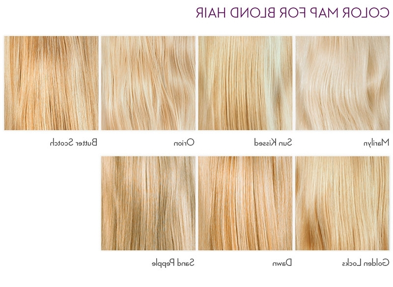 Blonde Hair Color Chart | Latest Hairstyles Within Butterscotch Blonde Hairstyles (View 14 of 25)