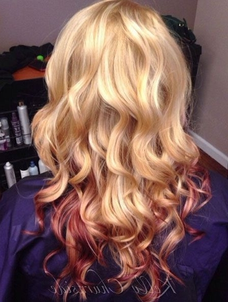 Blonde Hair With Red Peekaboo Highlights | Health, Beauty & Hair In Browned Blonde Peek A Boo Hairstyles (View 13 of 25)