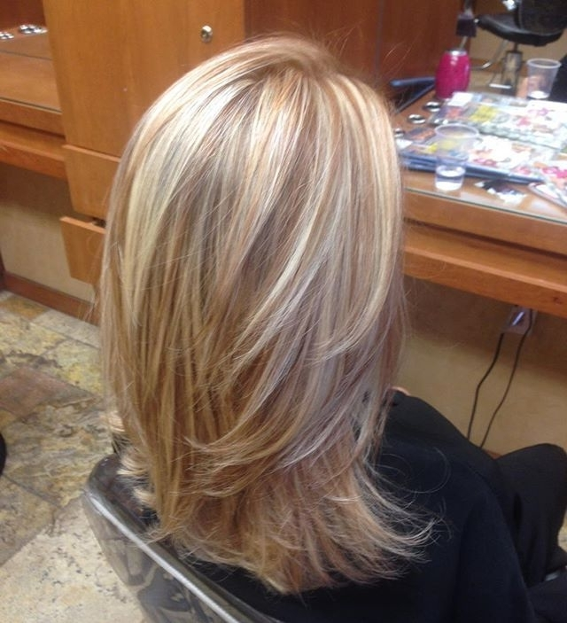 Blonde Highlights With Copper Low Lights! Style Of Cut I Like | Hair Throughout Light Copper Hairstyles With Blonde Babylights (View 13 of 25)