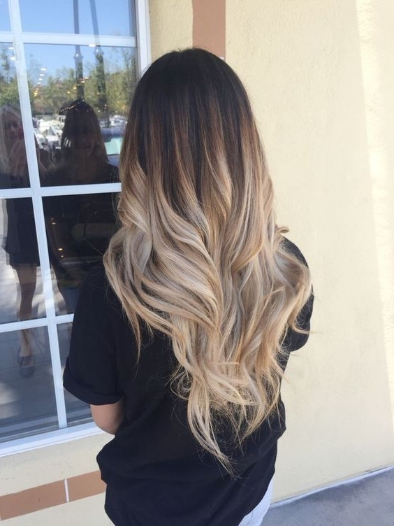 Blonde Ombre Dark Roots Long Hair | Long Hairstyle | Pinterest Regarding Sleek Blonde Hairstyles With Grown Out Roots (View 13 of 25)
