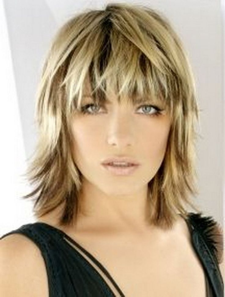 Blonde Shaggy Bob | Blonde Medium Length Choppy Shag Haircut With Pertaining To Shaggy Chin Length Blonde Bob Hairstyles (View 18 of 25)