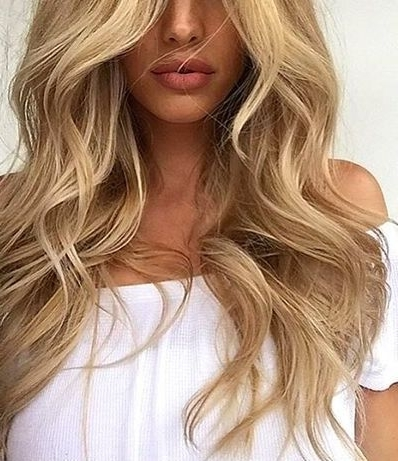 Blonde Waves And Perfect Pout | Blonde Hairstyles Cool | Pinterest Within Tortoiseshell Curls Blonde Hairstyles (View 4 of 25)