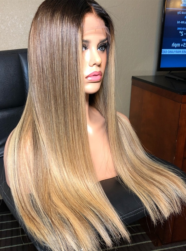 Blonde Wig For Creamy Blonde Waves With Bangs (View 25 of 25)