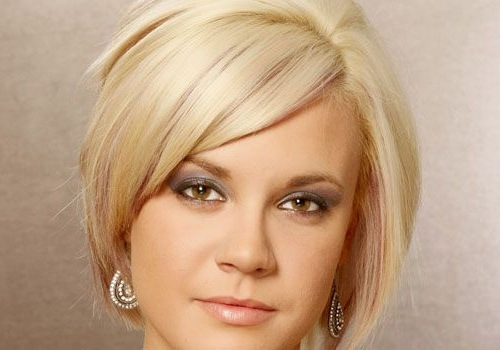 Bob Haircuts With Side Bangs – Google Search   Hair   Pinterest Within Blonde Bob With Side Bangs (View 25 of 25)