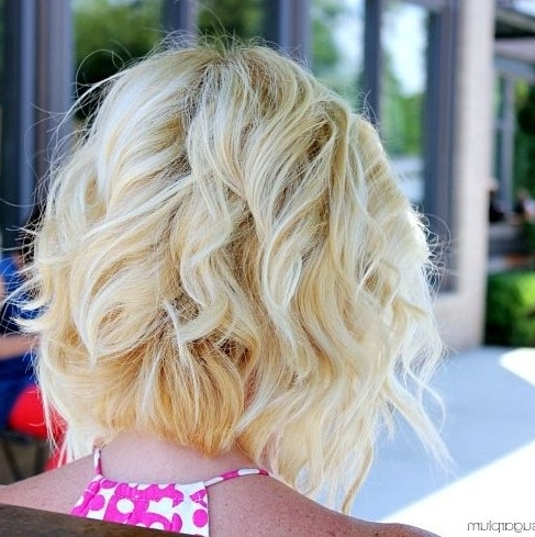 Bob Hairstyle Ideas 2018: The 30 Hottest Bobs For Women In Curly Angled Blonde Bob Hairstyles (View 23 of 25)