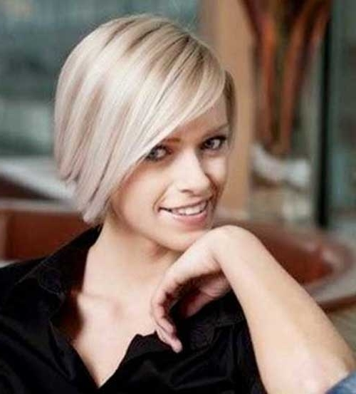 Bob Hairstyles 2014 For Fine Hair   Bob Hairstyles 2018 – Short With Inverted Blonde Bob For Thin Hair (View 20 of 25)