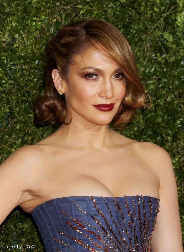 Bob Hairstyles: Jennifer Lopez's Vintage Lob Within Retro Glam Ponytail Hairstyles (View 22 of 25)