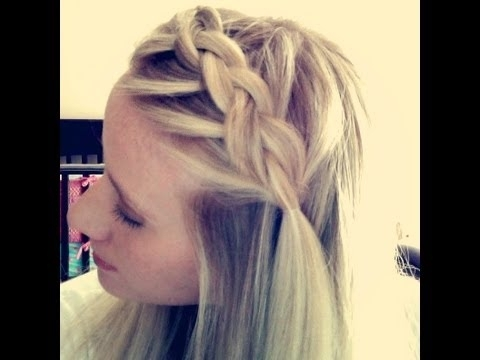 Boho Braid / Dutch Braided Bangs – Youtube Inside Braided Boho Locks Pony Hairstyles (View 21 of 25)