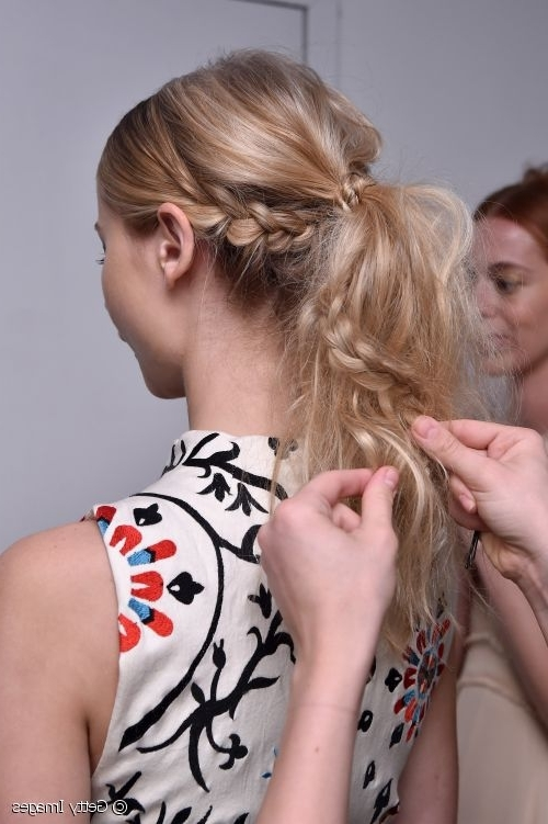 Boho Chic Hairstyles: 3 Braided Looks To Try This Spring! Throughout Pony Hairstyles With Textured Braid (View 20 of 25)