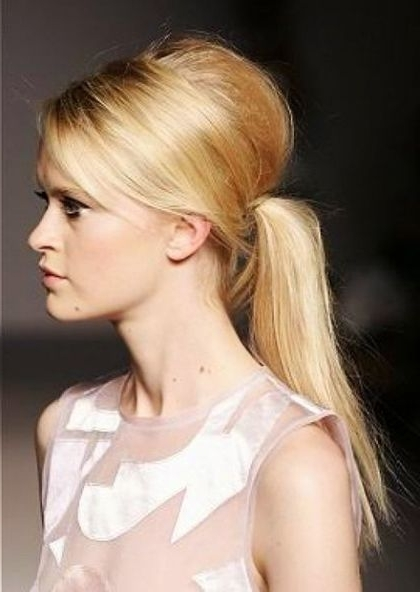 Bouffant Ponytail Hairstyles | Ladies Dresses | Pinterest | Ponytail With Regard To Bouffant Ponytail Hairstyles For Long Hair (View 1 of 25)