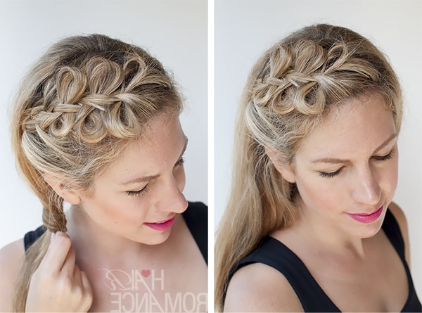 Bow Braids Hairstyle Tutorial – Hair Romance For Bow Braid Ponytail Hairstyles (View 7 of 25)
