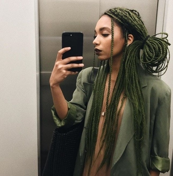 Box Braids Ponytail: 7 Stylish Ways To Rock The Trend Right Now Throughout Box Braids Pony Hairstyles (View 7 of 25)