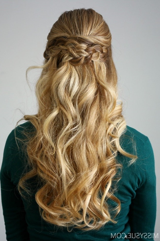 Braid Embellished Half Updo | Missy Sue For Perfectly Undone Half Braid Ponytail (View 16 of 25)