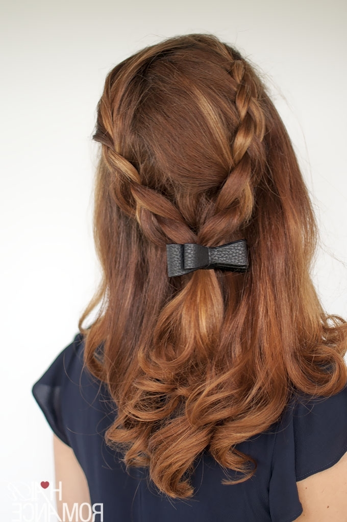Braid Tutorial – Two Ways And Two Accessories – Hair Romance Regarding Bow Braid Ponytail Hairstyles (View 10 of 25)