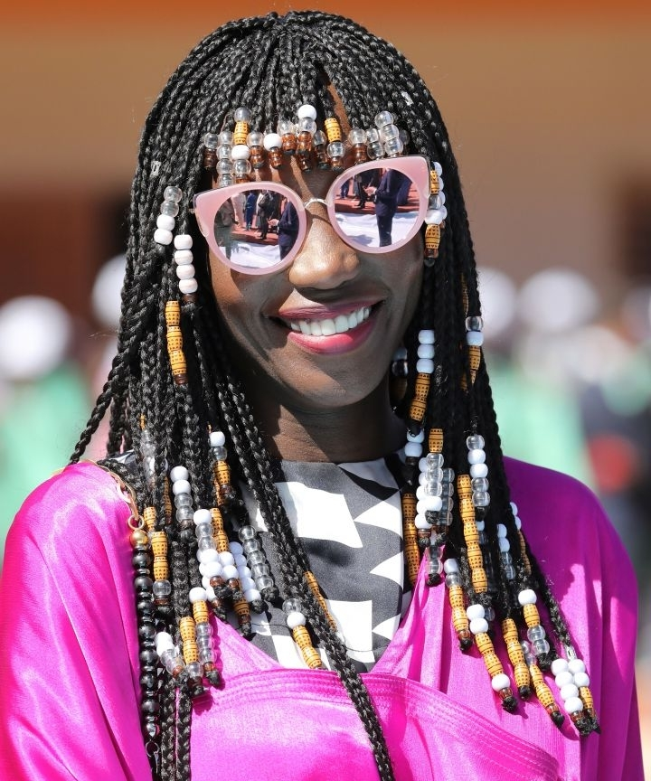 Braided Bangs Make Protective Styles Look Even Cooler With Pony Hairstyles With Curled Bangs And Cornrows (View 14 of 25)