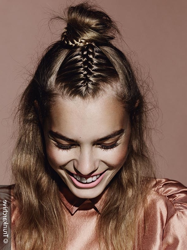 Braided Hair Trend: The Half Ponytail With French Braids Inside Half French Braid Ponytail Hairstyles (View 17 of 25)