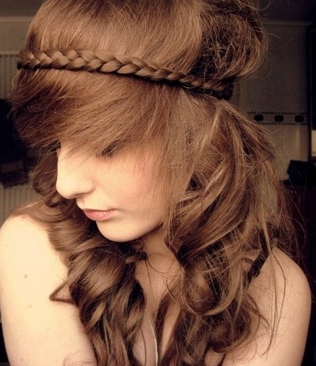 Braided Hairstyles For Long Wavy Hair – Popular Haircuts Throughout Wavy And Braided Hairstyles (View 5 of 25)
