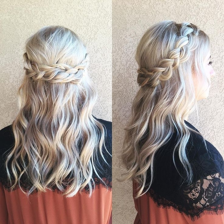 Braided Half Up Half Down Hair ~ We ? This! | Curl Up And Dye Regarding Braided Along The Way Hairstyles (View 13 of 25)