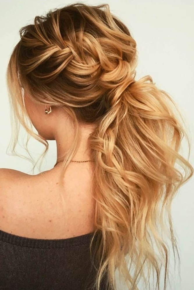 Braided Messy Ponytail | Boho Prom Hairstyle| Formal #hairstyles With Regard To Long Messy Pony With Braid (View 15 of 25)