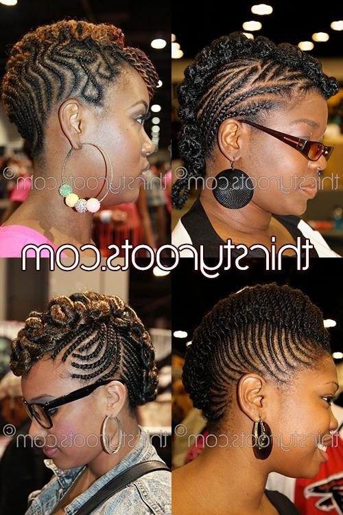Braided Mohawk Hairstyles For Black Girls Regarding Braided Hawk Hairstyles (View 14 of 25)