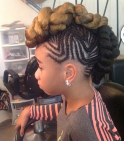 Braided Mohawk Hairstyles For Kids – 10 Cute Braided Mohawk Within Braided Ponytail Mohawk Hairstyles (View 15 of 25)