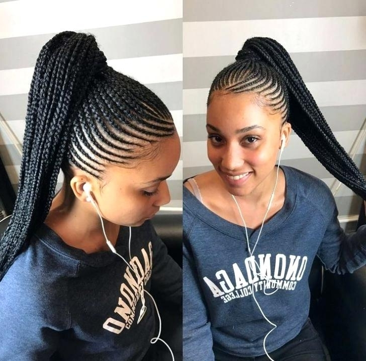 Braided Ponytail Hairstyles For Black Hair Piels With Weave Intended For Long Braided Ponytail Hairstyles (View 9 of 26)