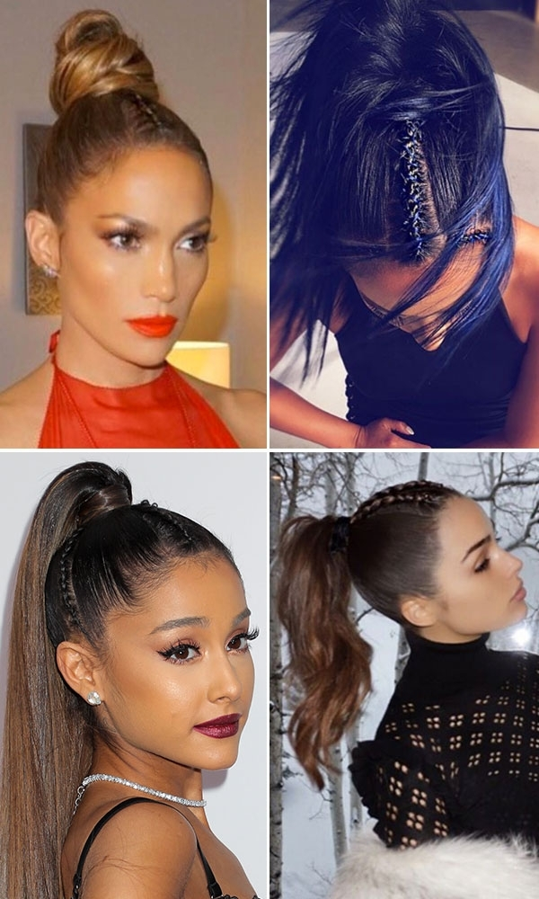 Braided Ponytail How To — Copy The Hair Trend Seen On Ariana Grande Regarding Mohawk Braid Into Pony Hairstyles (View 18 of 25)